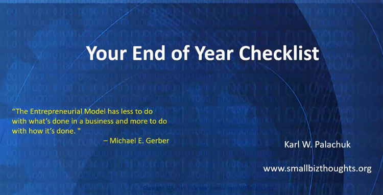 Karl's End-of-Year Checklist for IT Consultants