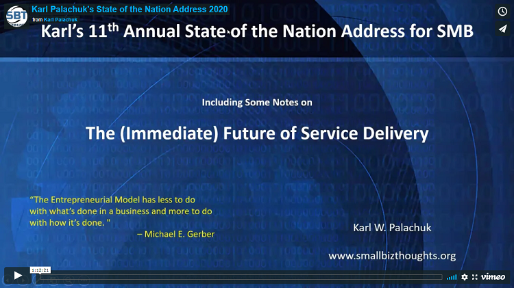 Karl Palachuk's 11th Annual (2020) State of the Nation Address for SMB IT